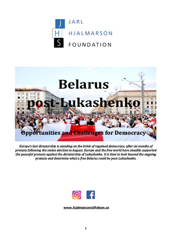 Belarus post-Lukashenko — Opportunities and Challenges for Democracy
